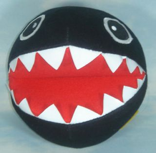 super mario bros black chain chomp 7.5soft plush doll