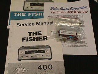 Fisher Model 400 Vacuum Tube Receiver restoration Kit