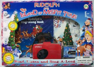 RUDOLPH ISLAND MISFIT TOYS BOOK CASSETTE PLAYER SET