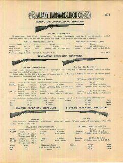 1924 Remingon Marlin Savage Iver Johnson Sevens Rifles Shoguns 10