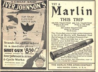 1902 ad b iver johnson sho gun marlin carridges