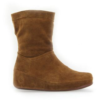 FitFlop Crush Brown Suede Womens Boots