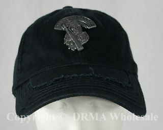 SONS OF ANARCHY Grim Reaper Metal Logo Patch Fitted Hat Cap NEW