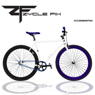 Fixed Gear Bike Fixie Bike Road Bicycle 48 52 56 cm w Deep Rims