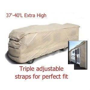 Extra High Class A RV Motorhome Travel Trailer Cover. Fit 37 40 Long