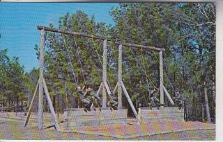 Trainees On Obstacle At Noth Fort Polk, La. Postcard