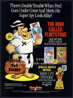 The Man Called Flintstone — Hanna Barbera — Vintage 1988 video