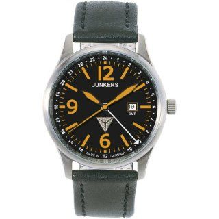 Junkers G 38 Orange GMT Titanium Watch 6278 5: Watches: