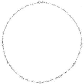 Roberto Coin 18k White Gold & Diamond Twistwire Necklace Jewelry