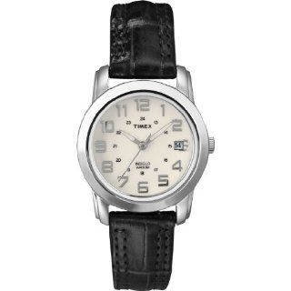 Classics Sport Chic Black Leather Strap Watch Watches