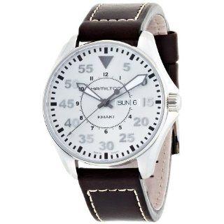 Hamilton Mens H64611555 Khaki Pilot Silver Day Date Dial Watch