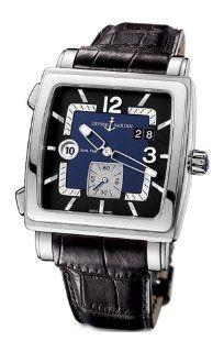 Ulysse Nardin Mens 243 92/632 Quadrato Dual Time Watch Watches