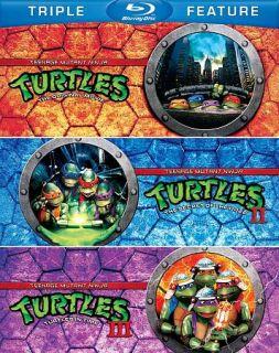 Teenage Mutant Ninja Turtles Triple Feature Blu ray Disc, 2012, 3 Disc Set