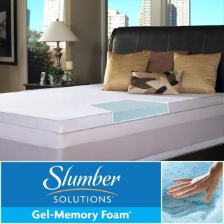 Solutions Gel 2 inch Twin/ Full size Memory Foam Mattress Topper
