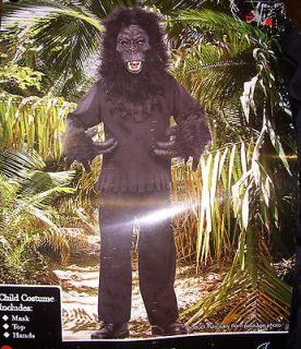 Gorilla Ape Halloween Costume Child NWT