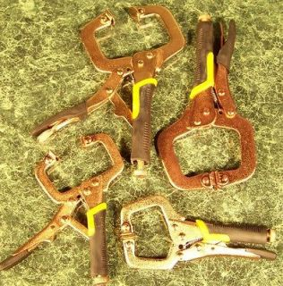 4pc COPPER LOCKING C – CLAMPS New Welding clamp pliers type non