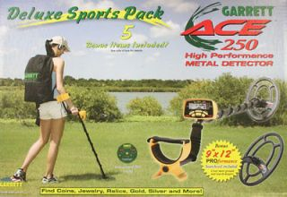 Garrett ACE 250 DeLuxe Sports Pack Metal Detector  low International