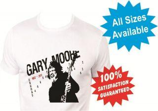 gary moore thin lizzy womans T Shirt New White Custom Print Tee