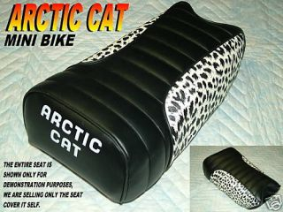 Arctic cat Mini bike seat cover Ramrod prowler climber leopard side