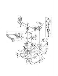 Model # 24725001 Craftsman Riding mower   Muffler/engine (26 parts)