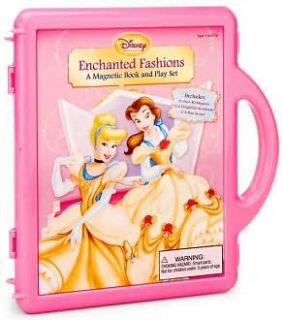 Disney Princess Enchanted Fashions A Magnetic Book and Playset by