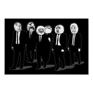 Rage Comic Meme Faces Walking. Me Gusta. Poster from Zazzle