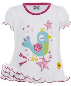 Buy Chad Valley Girls Bird Frill T Shirt   12 18 Months at Argos.co