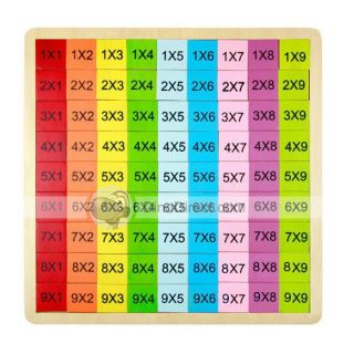 ZLF Interesting Wood Baby Educational Toy Multiplication Table Pattern