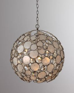 Antiqued Silver Leaf Chandelier   The Horchow Collection