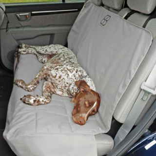Home Dog Travel & Outdoors Motor Trend Rear Car Seat Protector in Gray