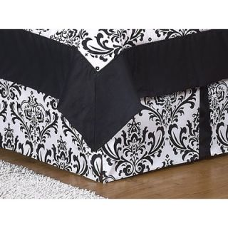 Sweet JoJo Designs Isabella Toddler Bed Skirt in Black / White