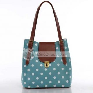 Wholesale ABAY PU Polka Dots Printing Women Handbag