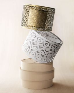 Cut Out Metal, Laser Cut Drum, and Art Deco Lamp Shades   The