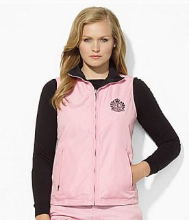 Lauren Ralph Lauren Woman Reversible Mockneck Crest Vest  Dillards
