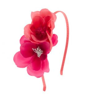 Girls double flower headband   hair accessories   Girls jewelry