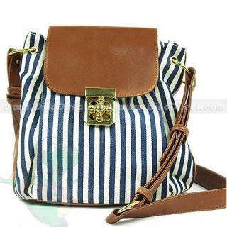 Wholesale Fashion Women Stripe Flap Shoulder Messenger Bags