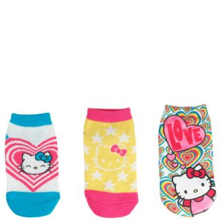 Girls   Hello Kitty   Girls (3 pk) Hello Kitty Hearts Low Cut Socks