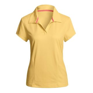 Neck Polo Shirt   Short Sleeve (For Women)   Save 61%