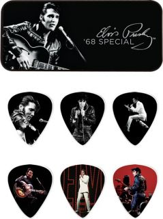 Dunlop Elvis Presley 68 Special Pick Tin with 6 Medium Picks