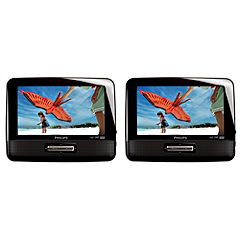 Philips PD7022 Twin 7 Screen Portable DVD Player   DVD players   Home