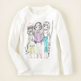 Girl graphic tees girl and dog graphic tee childrens clothing for Graphic t shirts for kids