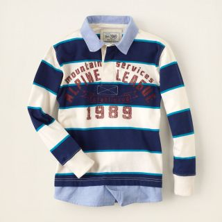 boy   long sleeve tops   novelty knits   faux layered striped rugby