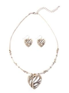 FASHION BUG   Filigree Heart Necklace Set customer reviews   product