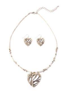 FASHION BUG   Filigree Heart Necklace Set customer reviews   product