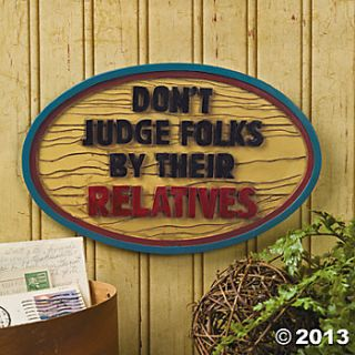 "Dont Judge Folks"" Sign, Wall Decorations, Party Decorations"