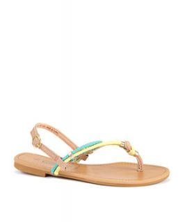 null (Multi Col) Green and Yellow Knotted Sandals  242507299  New