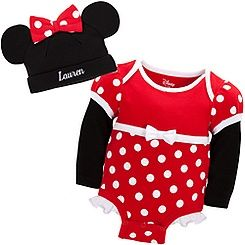 Minnie Mouse Disney Cuddly Bodysuit Set for Baby   Personalizable