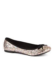 null (Multi Col) Teens Pink Glitter Ballet Pumps  263439099  New