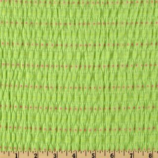 Smocked Jersey Knit Dot Lime   Discount Designer Fabric   Fabric