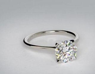 Petite Solitaire Engagement Ring in Platinum  Blue Nile